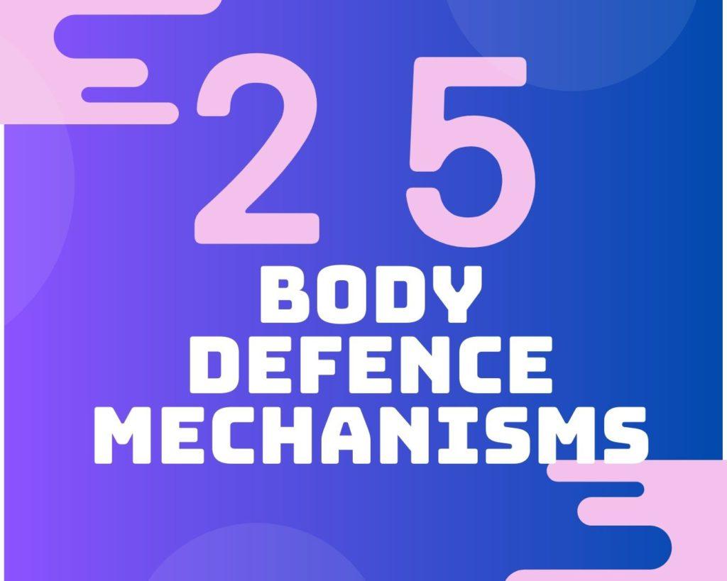 25 Body defence mechanisms